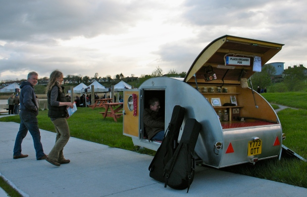 Musicians in Pod at Green Lough